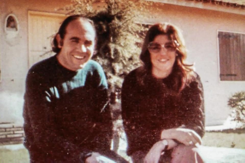 Soledad García junto al desaparecido villamariense Eduardo Requena